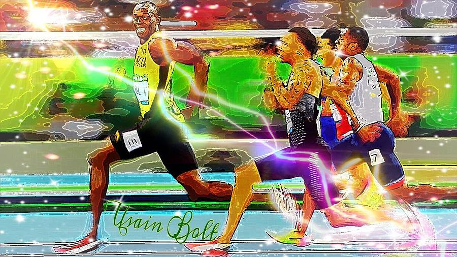 Usain Bolt  by Karen Buford