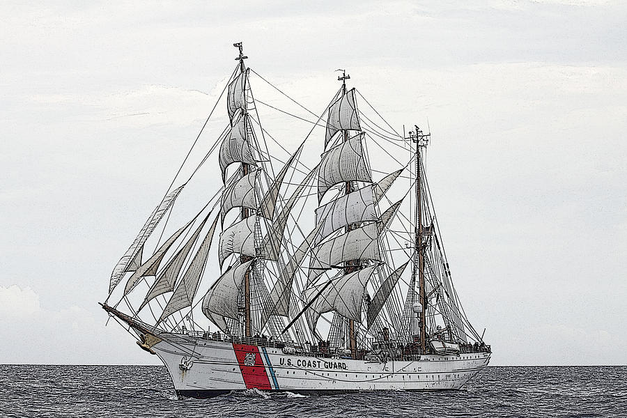 Uscg Barque Eagle Photograph by Max Mudie