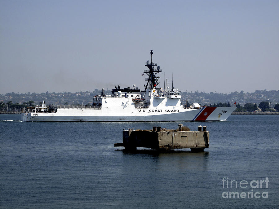 Uscgc Bertholf Underway In San Diego Photograph By Michael