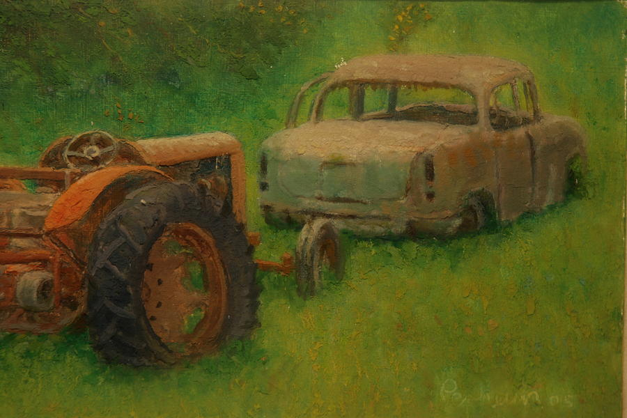 Rust Painting - Use By Dates Expired by Terry Perham
