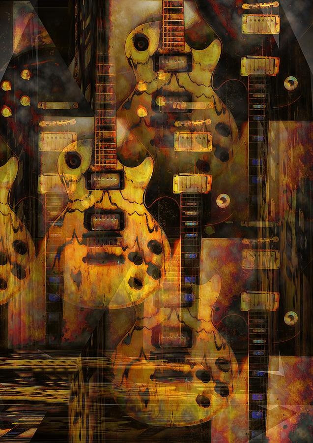 Guitar Photograph - Use You Illusion by Bill Cannon