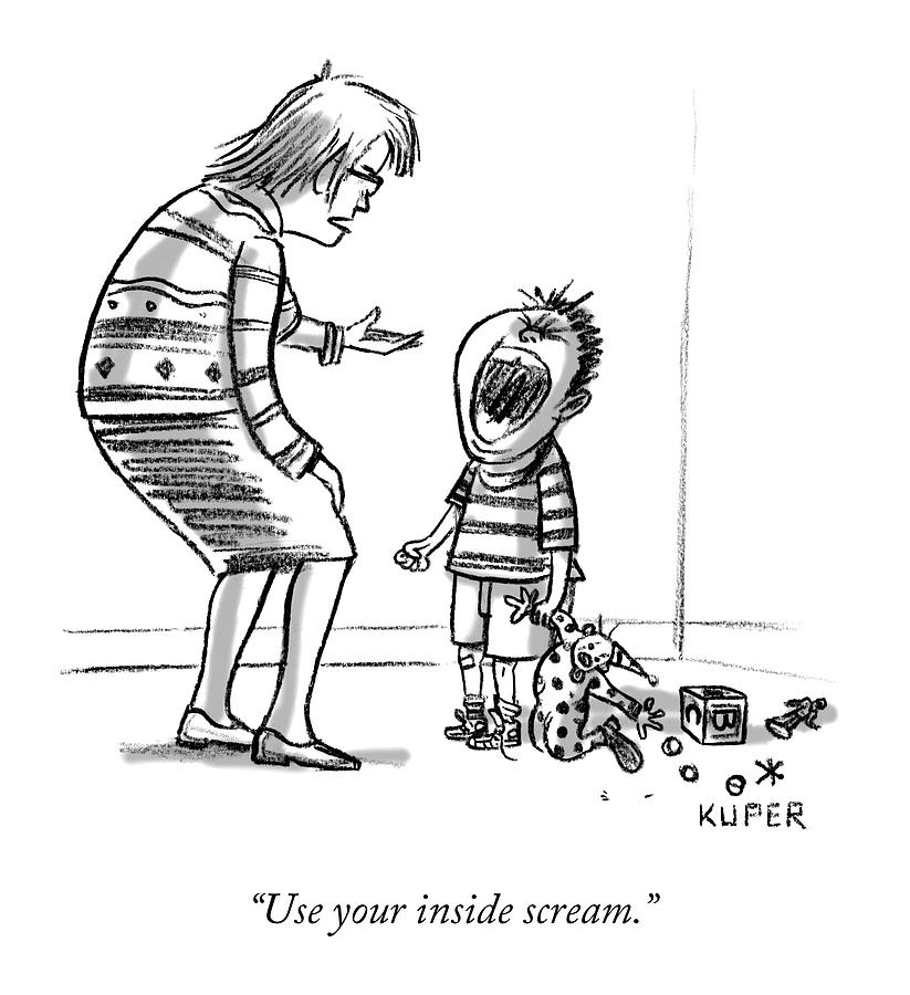 Use your inside scream Drawing by Peter Kuper
