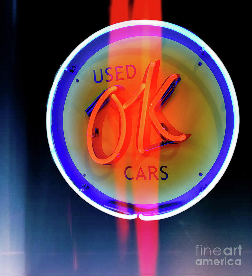 Cars Photograph - Used OK Cars  by Steven Digman