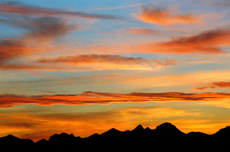 Usery Sunset II by Randy Oberg
