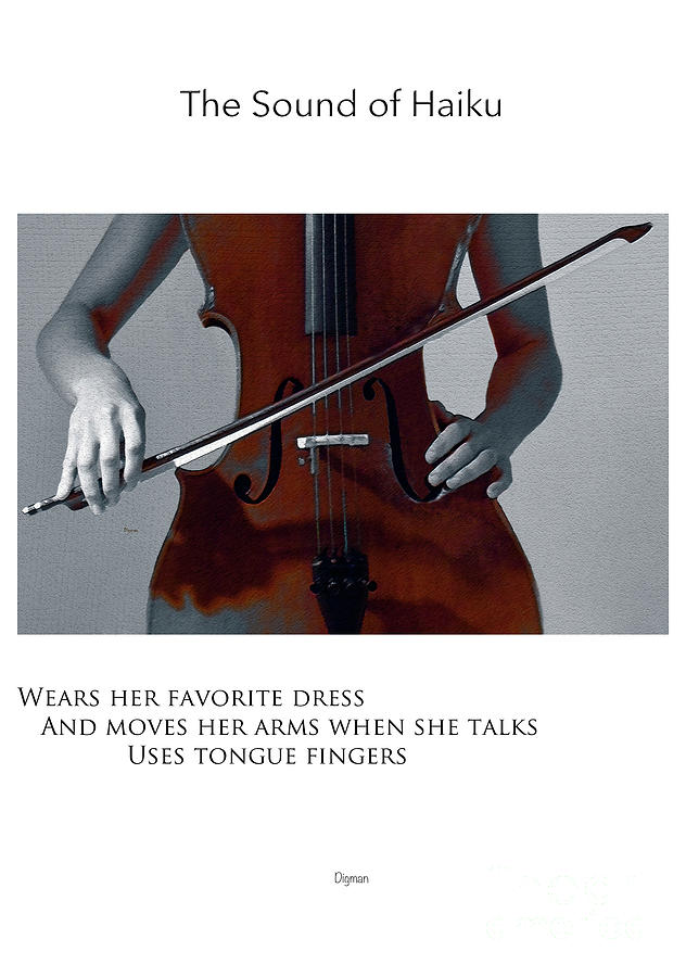 Cello Photograph - Uses Tongue Fingers  by Steven Digman