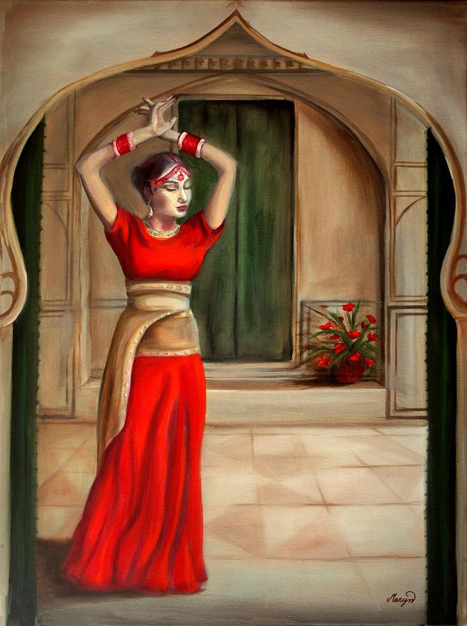 Woman Painting - Usha by Maryn Crawford