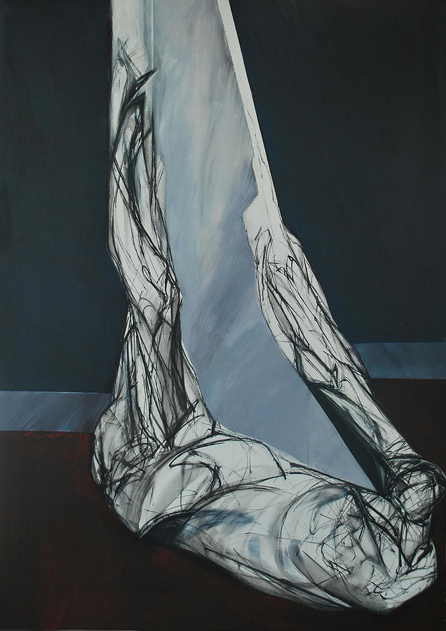 Figure Painting - Usjek by Mirjana Lucic