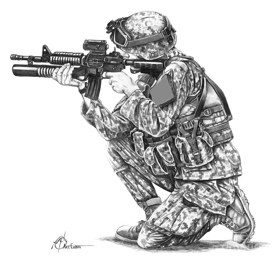военные рисунки снайпер этих