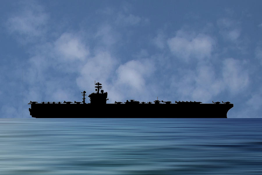 Uss Abraham Lincoln Photograph - Uss Abraham Lincoln 1988 V1 by Smart Aviation