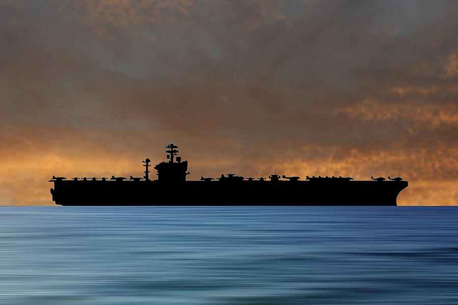 Uss Abraham Lincoln Photograph - USS Abraham Lincoln 1988 v3 by Smart Aviation