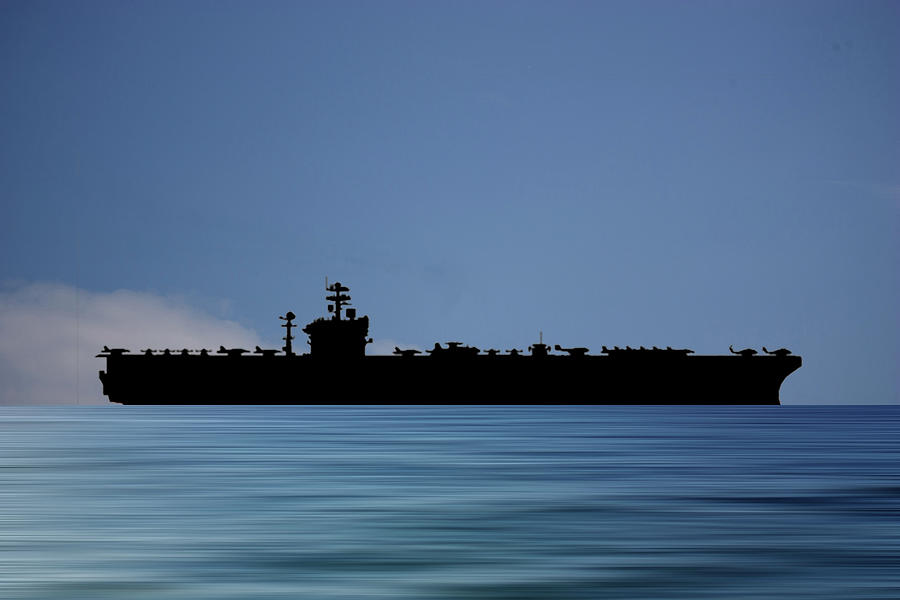 Uss Abraham Lincoln Photograph - Uss Abraham Lincoln 1988 V4 by Smart Aviation