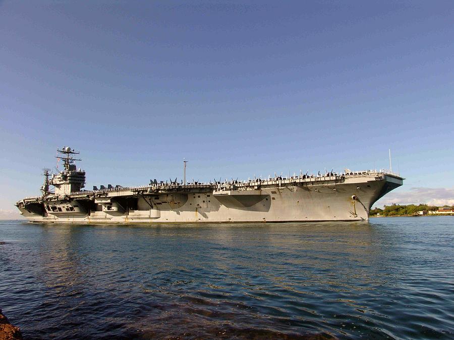 Abraham Photograph - USS Abraham Lincoln by Robert Braley