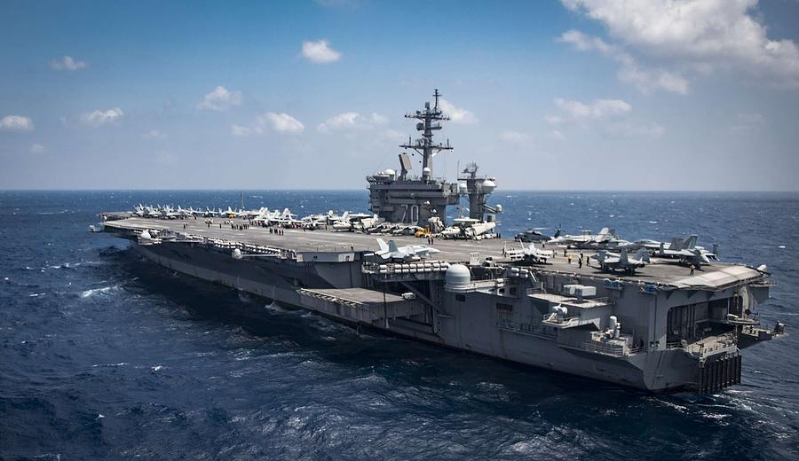 Uss Carl Vinson Cvn 70  , By Us Navy, Military Painting