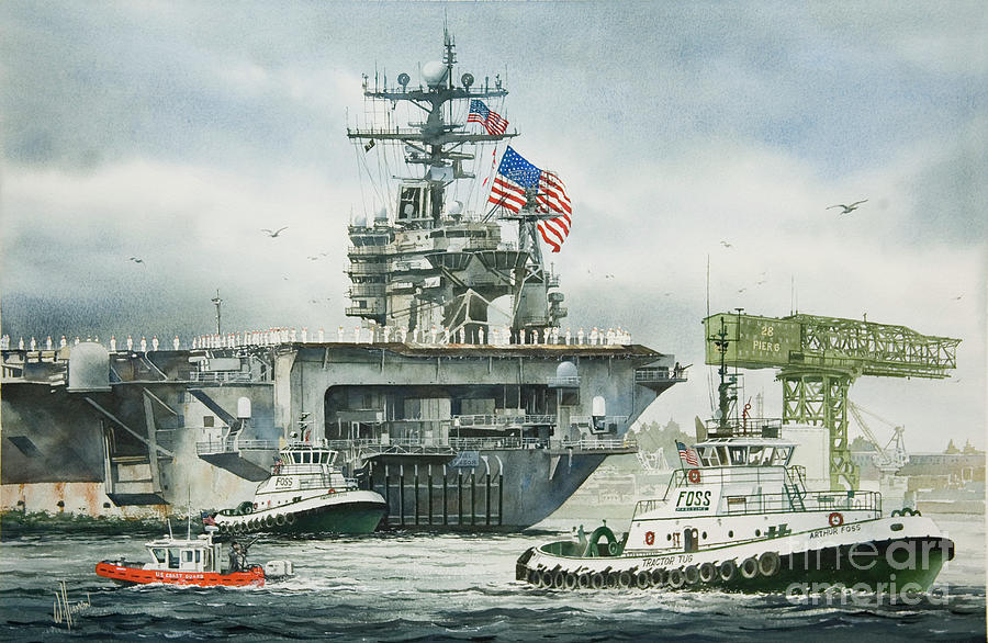 Foss Maritime Painting - Uss Carl Vinson by James Williamson