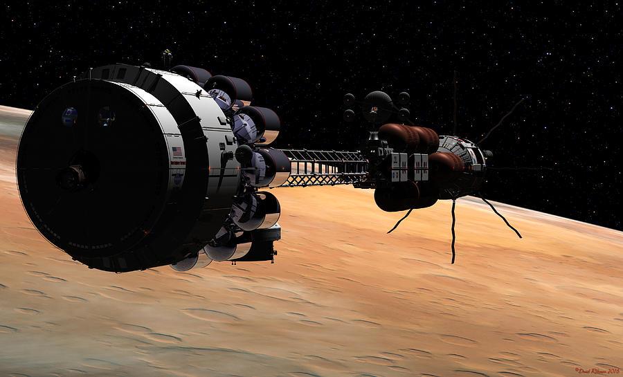 USS Hermes 1 in orbit by David Robinson