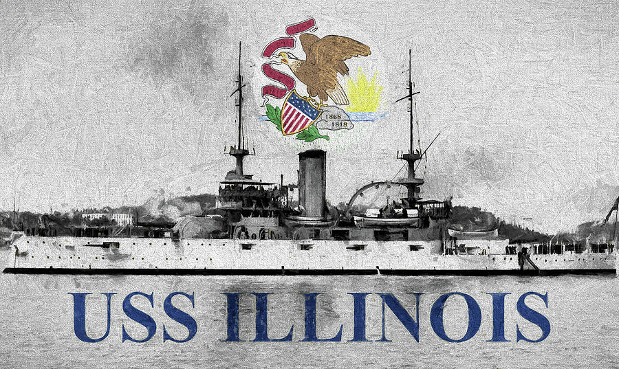 Uss Illinois Digital Art - Uss Illinois by JC Findley