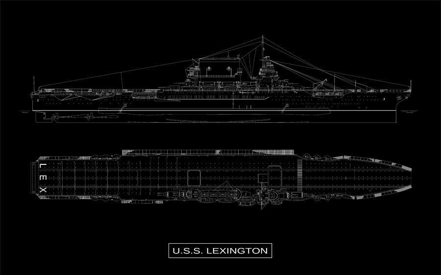 USS Lexington by DB Artist