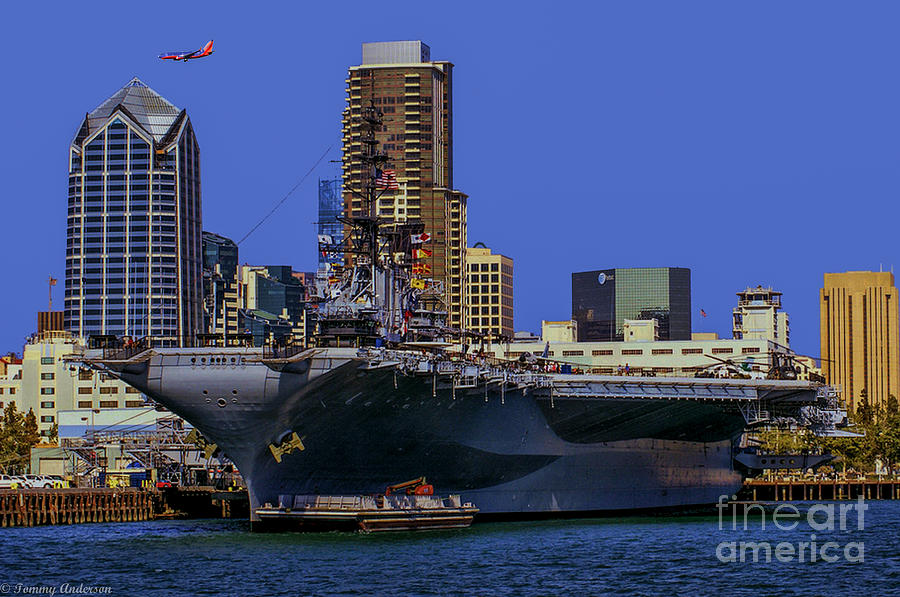 Uss Midway Photograph - Uss Midway San Diego Ca by Tommy Anderson