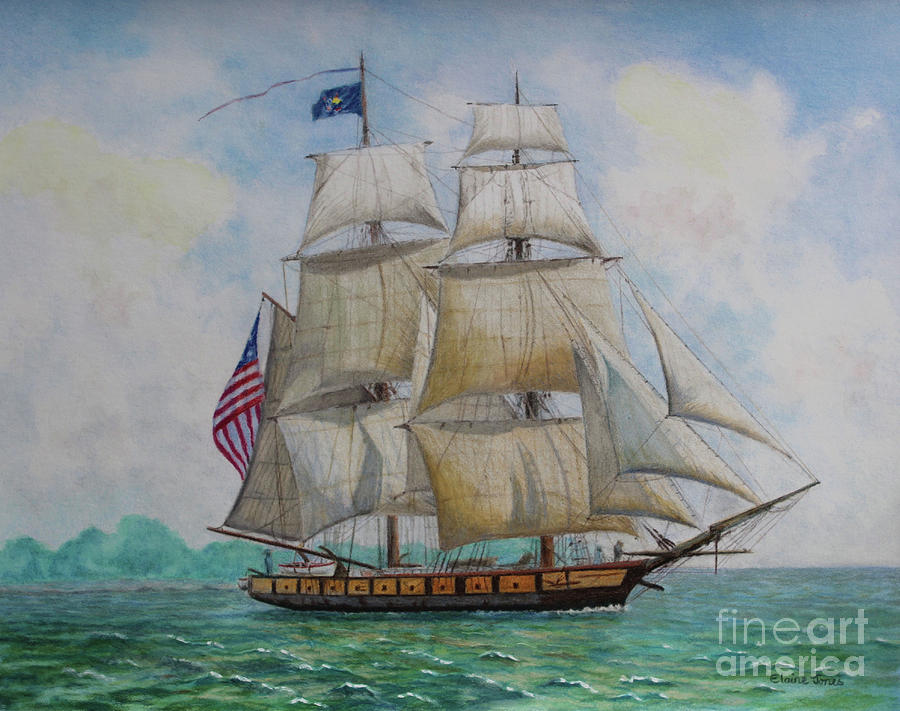 USS Niagara by Elaine Jones