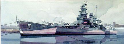 Ships Print - Uss North Carolina by Richard Staat