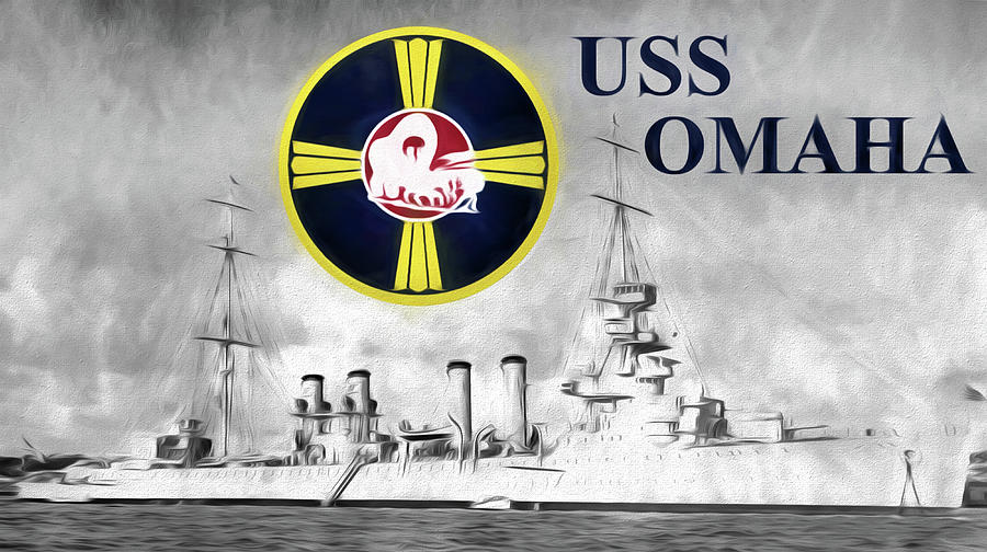Us Navy Digital Art - Uss Omaha by JC Findley
