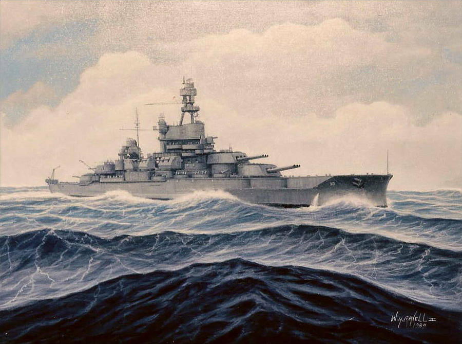 Navy Painting - Uss Pensylvania by William H RaVell III
