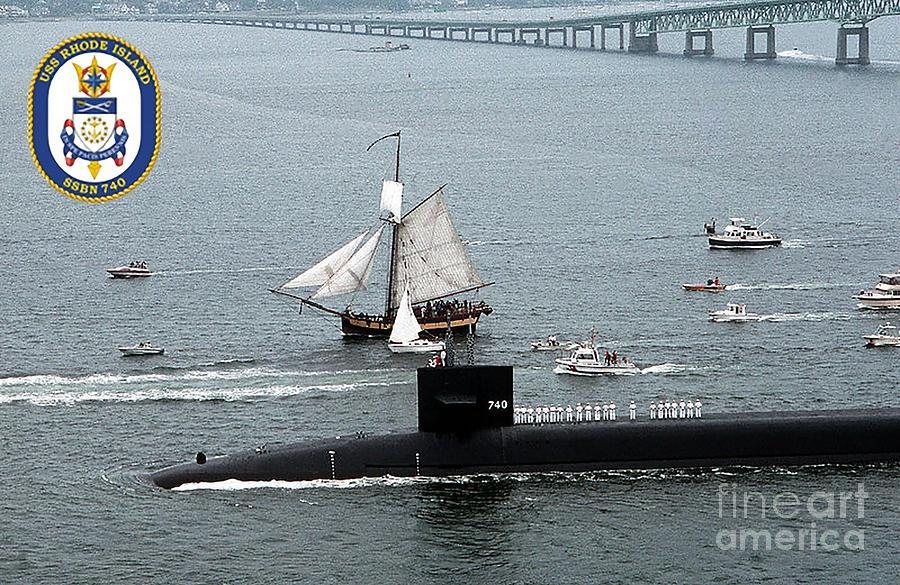 Uss Rhode Island Photograph by Baltzgar