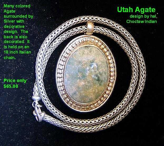 Silver Jewelry - Utah Agate by Hal Sharpe