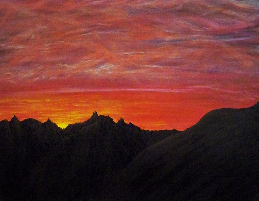 Sunset Painting - Utah Sunset by Michael Cuozzo