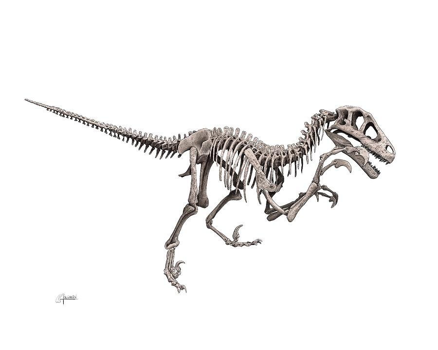 Utahraptor by Rick Adleman