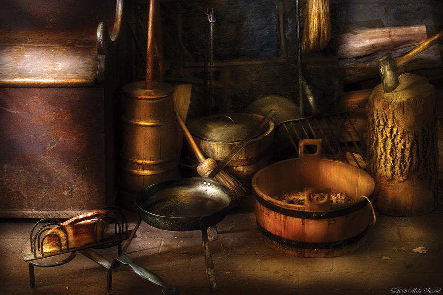 Savad Photograph - Utensils - Colonial Utensils by Mike Savad