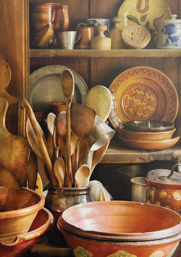 Hdr Photograph - Utensils - Remembering Momma by Mike Savad