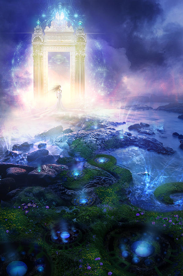 Landscapes Painting - Utherworlds Passage To Hope by Philip Straub