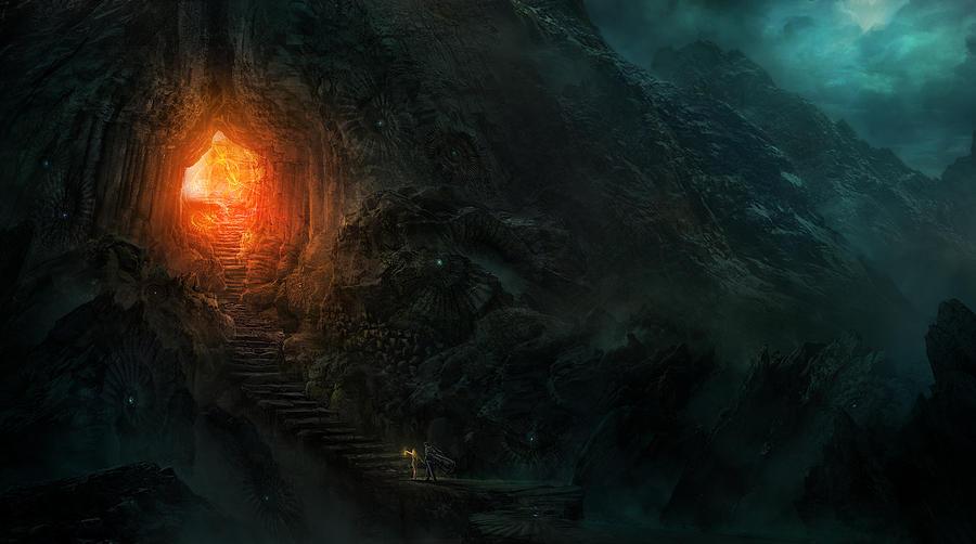 Nightmares Painting - Utherworlds Threads Of Kirillia by Philip Straub