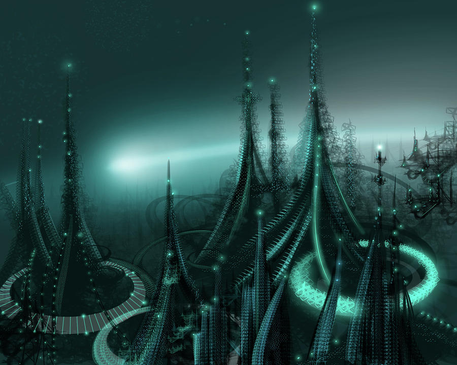 Cityscape Digital Art - Utopia by James Christopher Hill