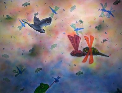 Landscape Painting - Utopian Paradox by Bryan Kite