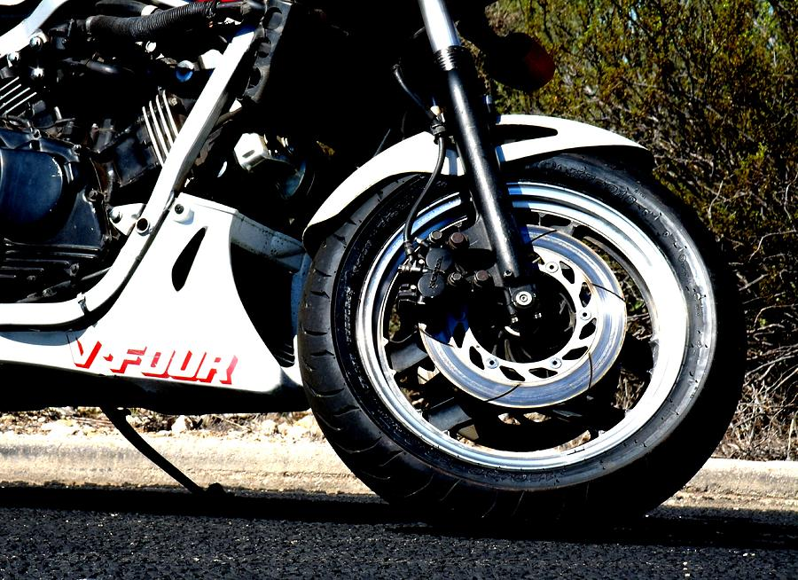 Motorcycle Photograph - V Four by David S Reynolds