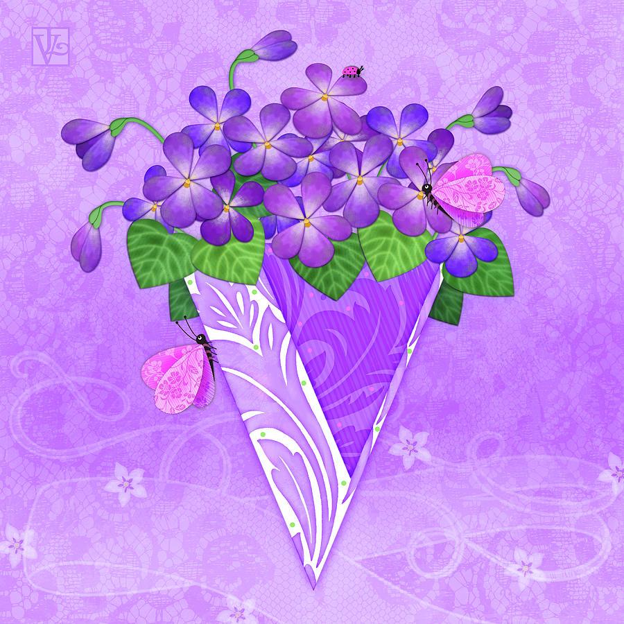 V is for Violets by Valerie Drake Lesiak