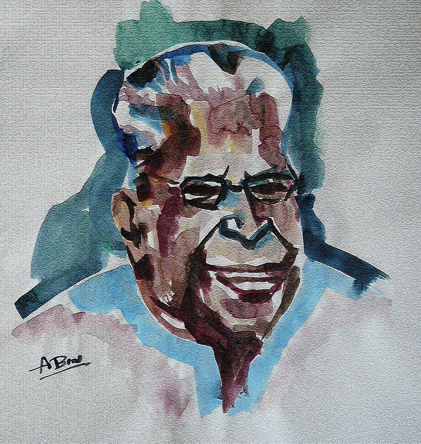 Kerala Painting - V S Achuthanandan by Abin Raj