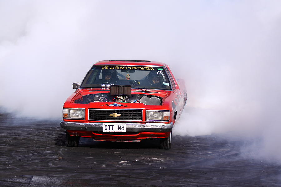 Holden Photograph - V8 Ute Doing A Burnout by Stephen Athea