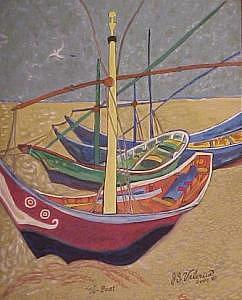 Va-boat Painting by Joseph Valencia