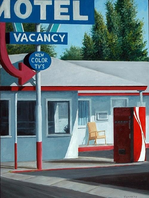 Motel Painting - Vacancy by Robert Smith