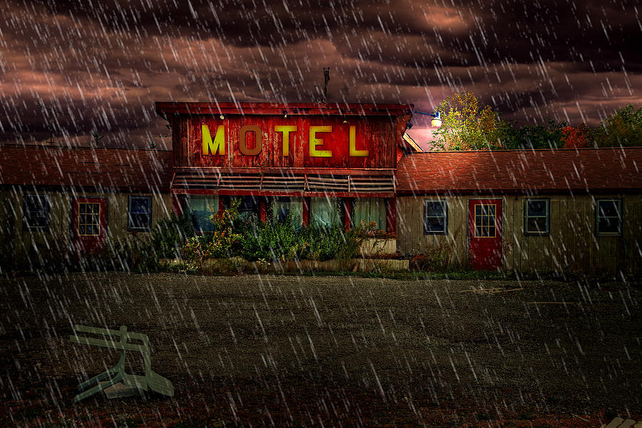 Motel Photograph - Vacancy by Tom Mc Nemar