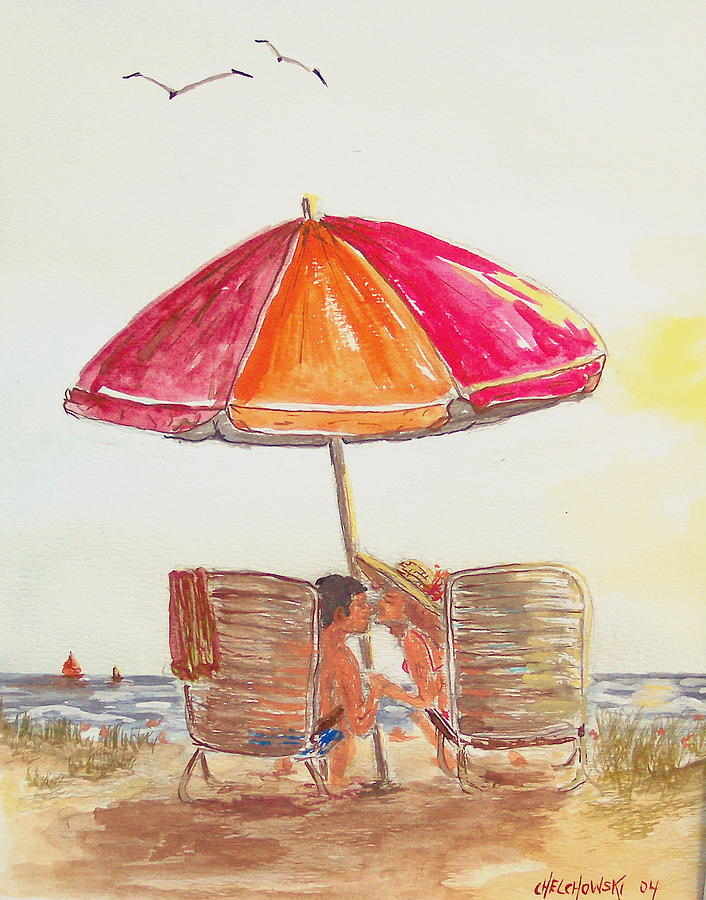 Vacation Painting by Miroslaw  Chelchowski