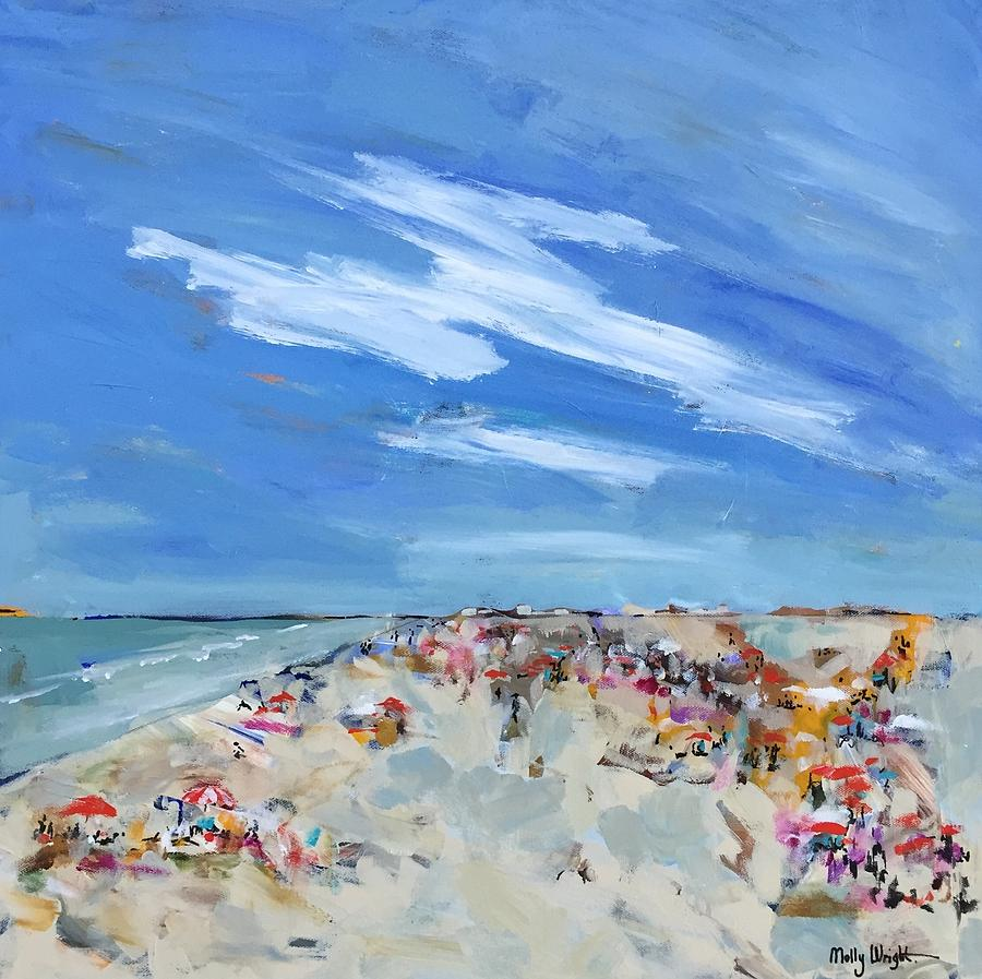 Ocean Painting - Vacation Mode by Molly Wright