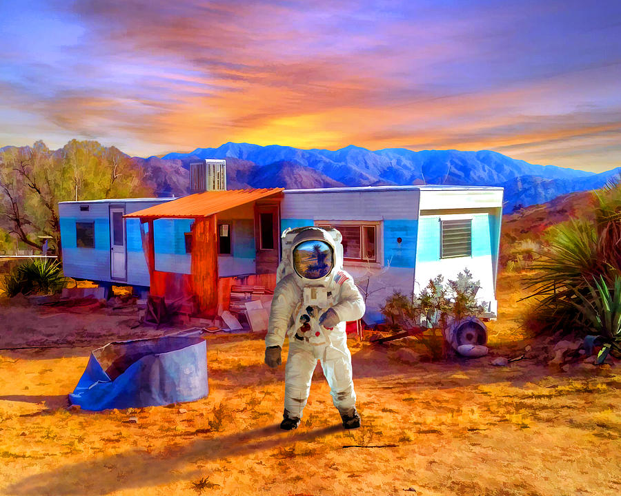 Astronaut Mixed Media - Vacation Rental by Snake Jagger