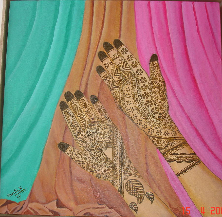 Hands Painting - Vaidez by Shanta Rathie