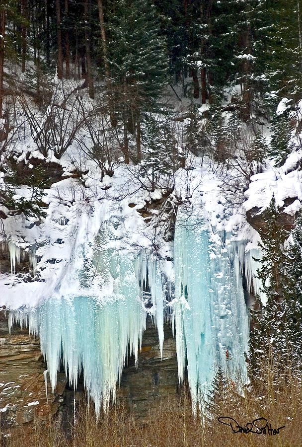 Vail Colorado Photograph - Vail Ice Falls by David Salter