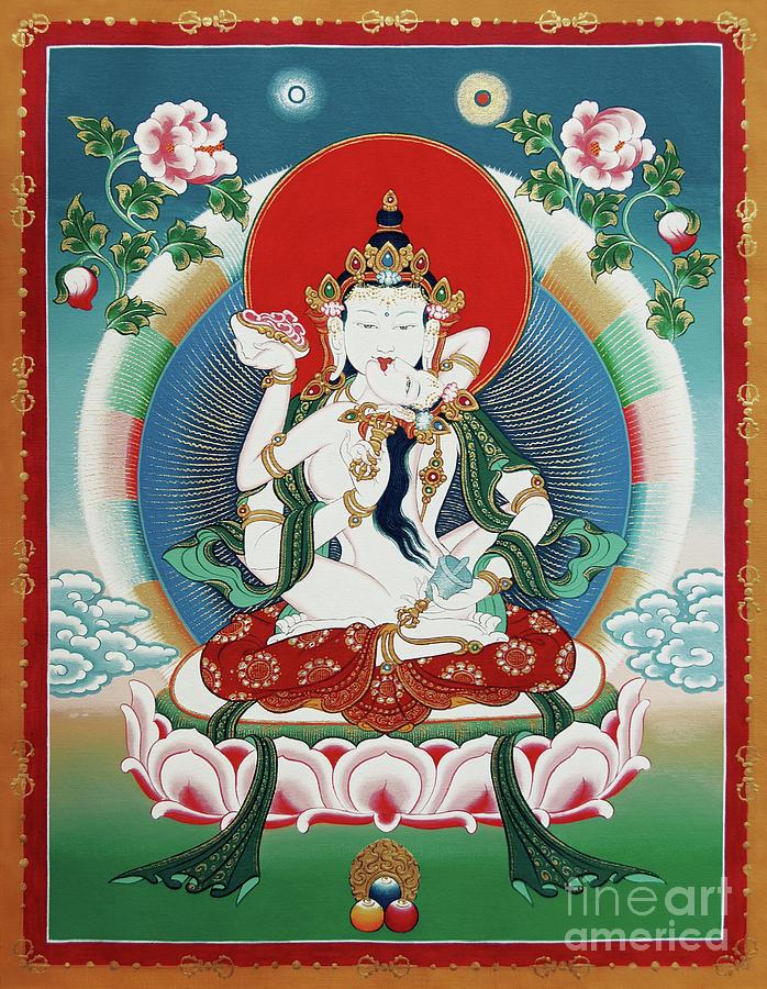 Vajrasattva Painting - Vajrasattva Yuganadha  by Sergey Noskov
