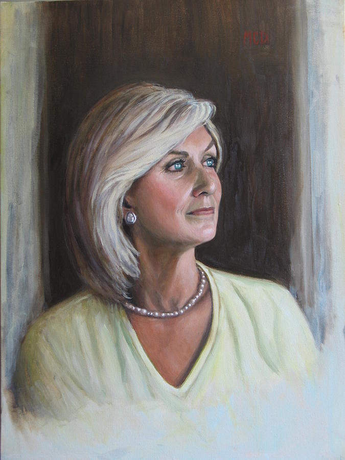 Portrait Painting - Val Rowley by Moira Dedrick
